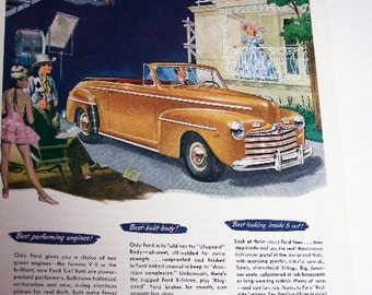 Ad for 1947 Ford