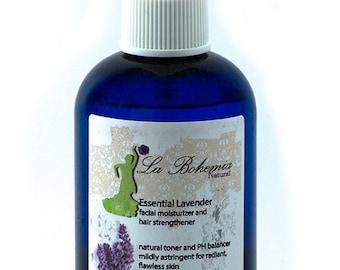 Lavender Facial Moisturizer and Hair Strengthener 4oz Organic