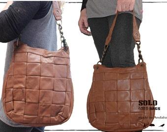 "handbag , hobo , leather , patch *my ""Kidberry"""