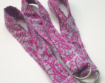 Silver & Pink Paisley Wristlet Keychain