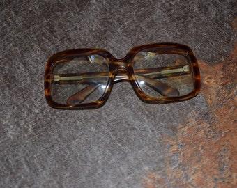 Vintage Estate Made in Italy Tortoise Shell Eyewear Glass Transitional Lense