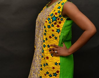 Size 10/12. African Print Dress
