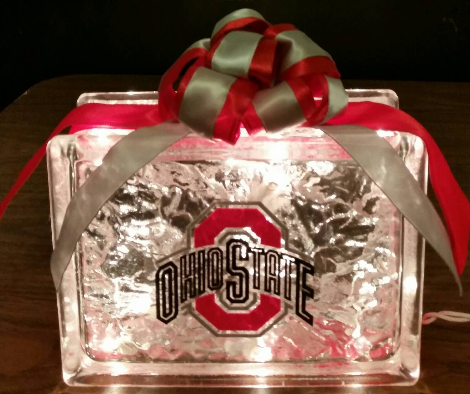 Ohio State Buckeyes Lighted Glass Block