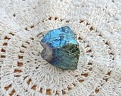 Blue Iridescent Stone Ring