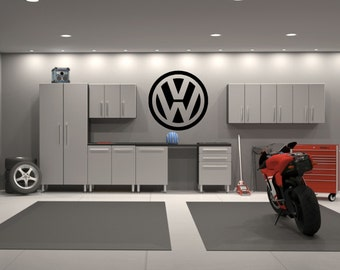 Volkswagen VW Emblem Garage Interior Wall Decal Sticker