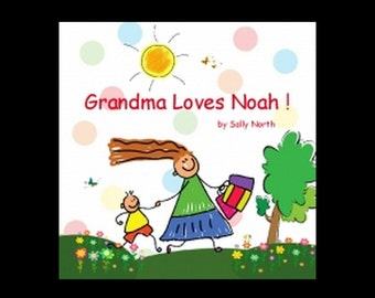 Personalized book for grandson.  Personalized book from Grandma.  Personalized book for nephew.