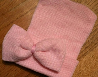SOLID PINK Beanies Have Arrived!  Newborn Hospital Beanie Hat. Perfect 1st Keepsake! Great Baby Gift! Every Baby Needs One!