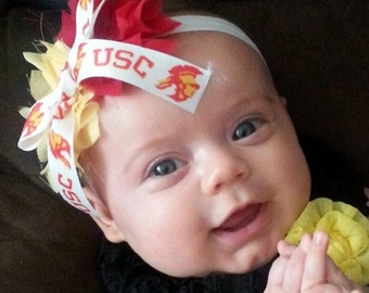 USC Shabby Flower Headband