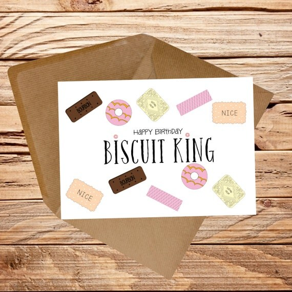 Items Similar To Funny Birthday Card Biscuit Queen Biscuit