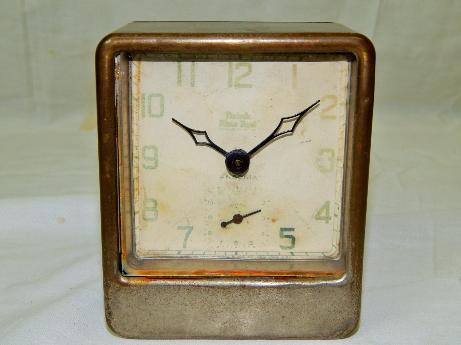 112 cool antique ansonia art deco alarm clock still ticking Art deco alarm clocks