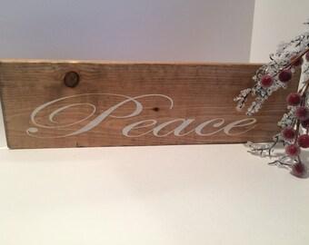 Christmas Peace Sign, Wood