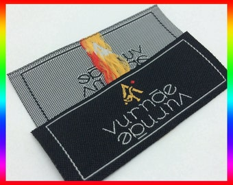 2400 Custom woven clothing label, Custom clothing label,Woven label for art logo Clothing Labels