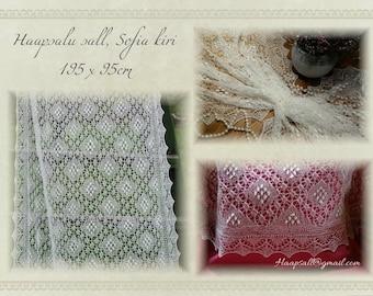 Estonian Lace, Haapsalu shawl, Sofia pattern - warm and lacy!