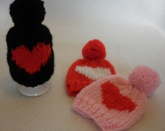 Valentine Egg Cosy with Bobble