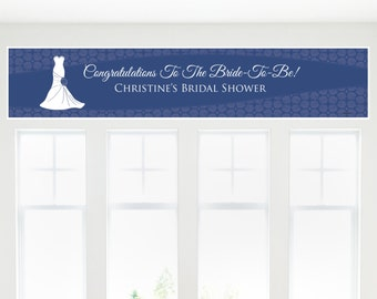 Wedding Dress Blue Banner - Bridal Shower Decorations - Bridal Shower Party Supplies