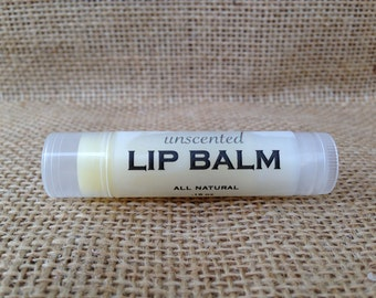 Unscented Lip Balm with Cocoa Butter & Beeswax - .15oz tube - All Natural