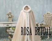Wedding Bridal Cloak, Wedding Coat,  Bridal cape Wedding, Winter Bridal Cloak Custom Color