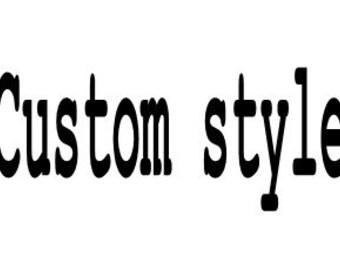 Custom flower and dress