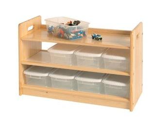Toy Organizer, Craft Supply Storage, Unfinished Wood Furniture