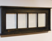 Distressed Window Picture Frame,  Multi Photo Frame, Shabby Chic Frame,, Collage Frame, Rustic Home Decor, salvaged glass