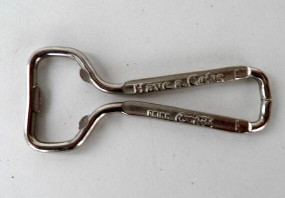 Vintage metal coca cola bottle opener - Antique coke bottle opener ...