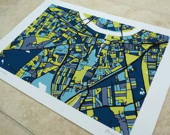 Wandsworth, London Art Map - Limited Edition Contemporary Giclée Print