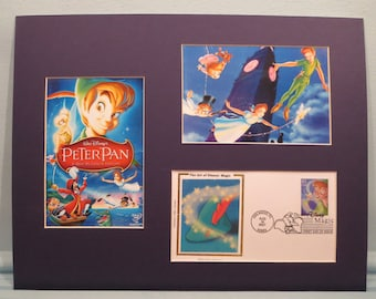 """Walt Disney's """"Peter Pan"""" with Tinkerbelle and First Day Cover of the Peter Pan Stamp"""