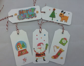 Christmas Gift Tag - Set of 5