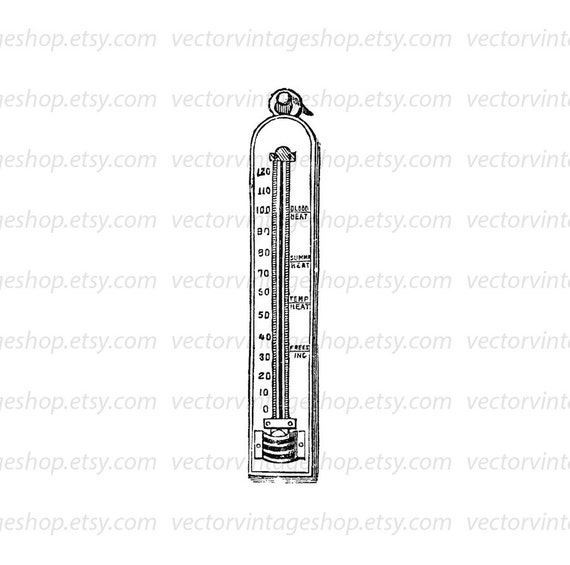 Thermometer vector clipart graphic commercial use for 88 salon kirkland
