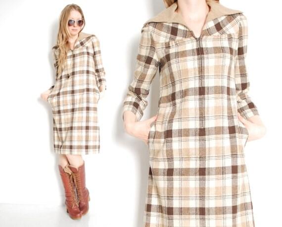 70er jahre kleid wolle kleid tweed kleid spitzen kragen. Black Bedroom Furniture Sets. Home Design Ideas