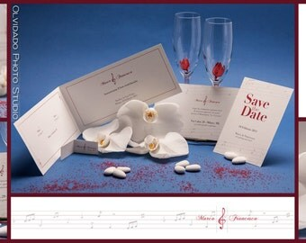 Music Theme invitations-Love me do