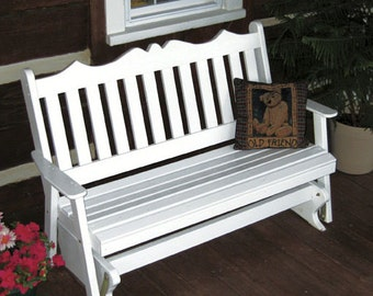 Yellow Pine Royal English 4ft. Porch Glider