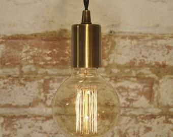 Antique Brass Pendant Light Industrial Modern Lamp Hanging Lamp Cord Canopy