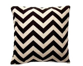 Black and white zigzag cushion