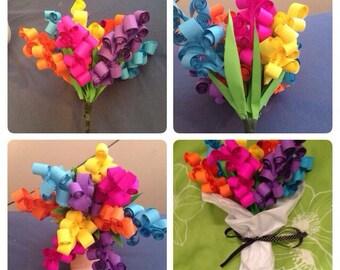 Flower bouquet. Spiral flowers. Perfect gift.
