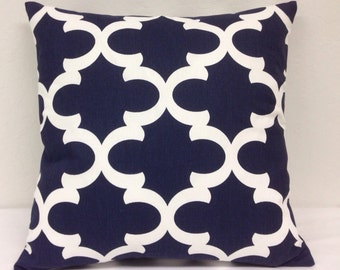 Navy Eaton Square 18 inch Decorative Pillow Cover