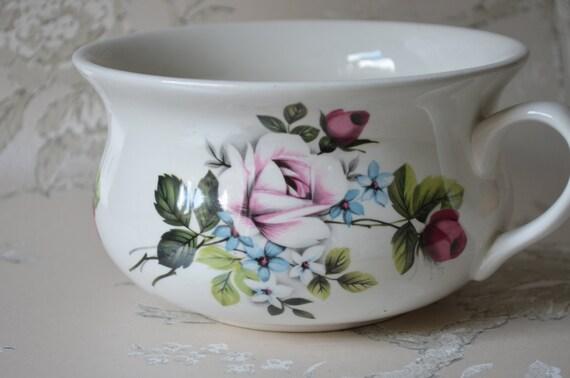 Vintage portmeirion chamber pot small potty rose by - Pot de chambre antique ...