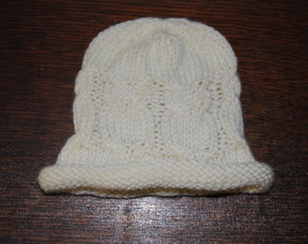 Owl Baby Hat - Ivory