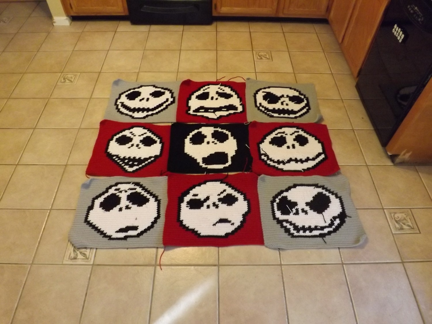 Many faces of jack skellington corchet graphghan grid pattern zoom bankloansurffo Image collections