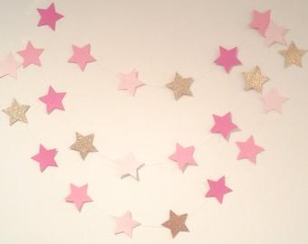 Twinkle Twinkle Little Star Birthday Twinkle Twinkle Little Star Baby Shower Twinkle Twinkle Little Star First Birthday Pink Star Garland