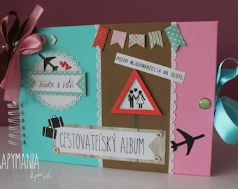 Colorful album for travellers