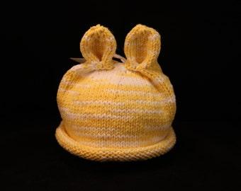 Newborn - Animal ears - knit baby hat - baby knit hat  - baby hat knit - newborn knit hat - knit hat newborn - newborn photo prop
