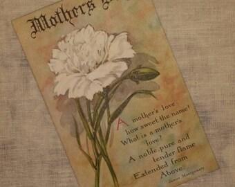 Mother's Day Vintage Postcard - blank