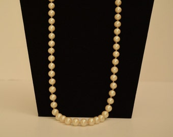 "Vintage 27"" Length Single-Strand Faux Pearls"