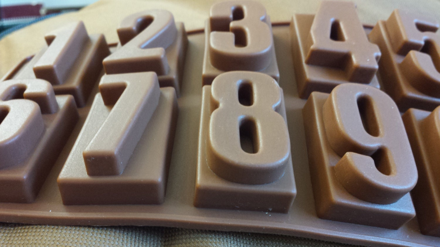 Number Mold Fondant Mold Chocolate Mold Gum Paste Mold