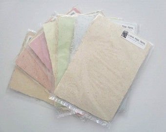 Llama Fibre Paper.  Hand-made, Recycled Paper with Llama Fibre for Art and Craft.