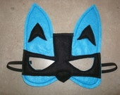 Pokémon Inspired Felt LUCARIO Mask - Halloween, Pretend Play, Birthday Parties - Toddler/Child Sized To Adult - All Stitched - No Glue