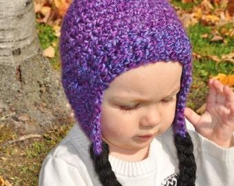 BurkeyBaby Soft Earflap Pom-pom Hat