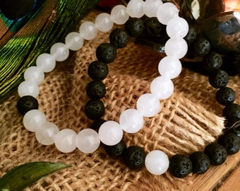 Yin Yang Reiki Infused Bracelets. What a special way to honor the person who makes your soul blossom.
