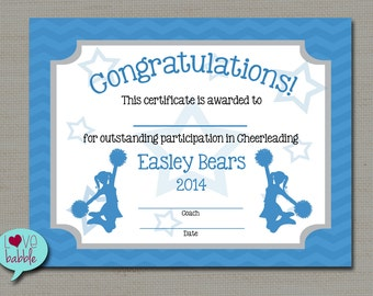 Cheerleading Cheer Award Certificat e, Dance Gymnastics Award ...